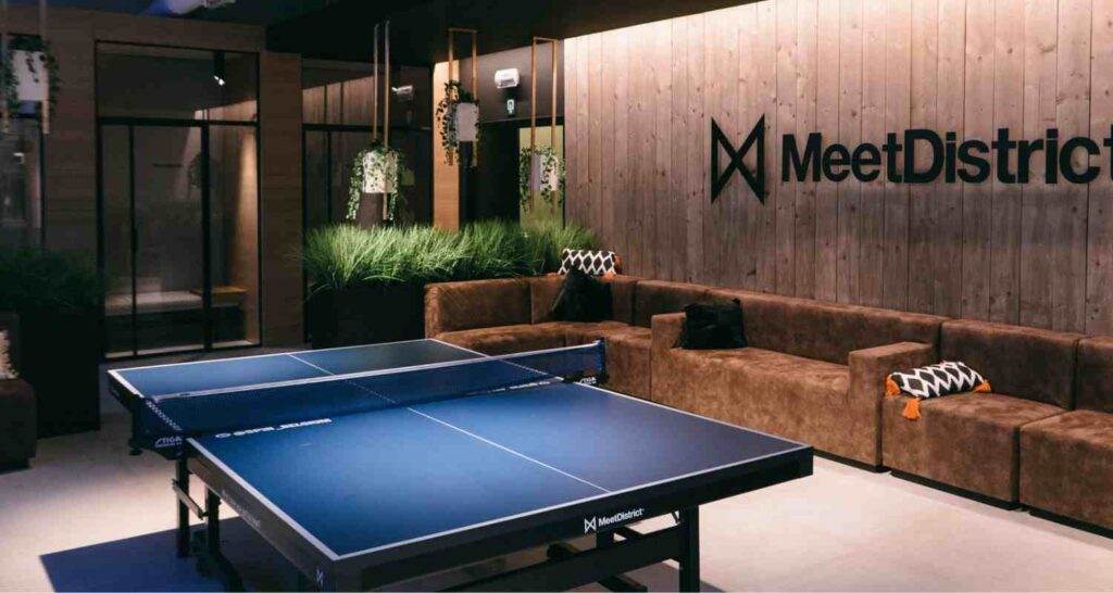 new ping pong tables inside spacious rooms