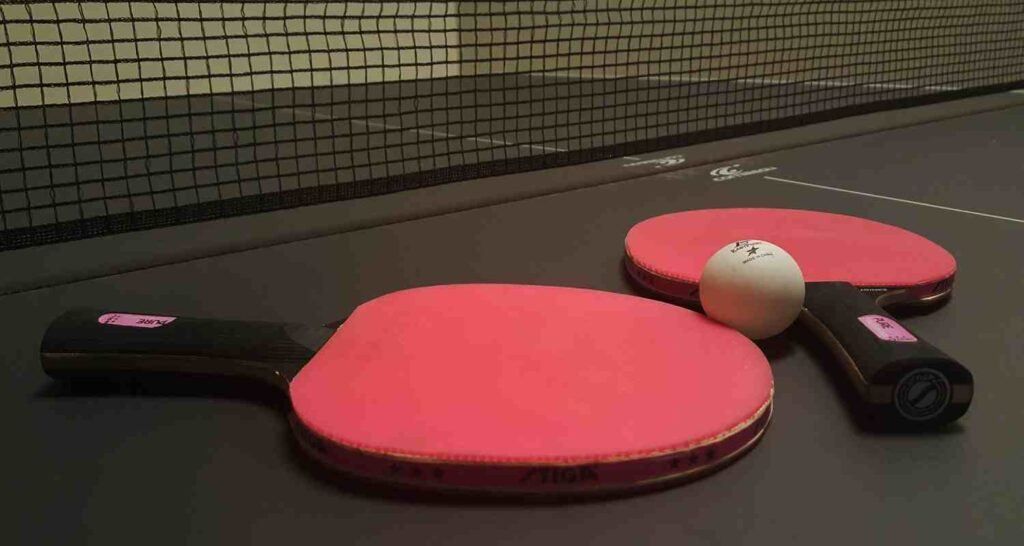 ping pong paddle handle types from flared to straight