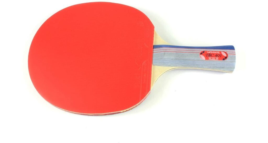 Butterfly 401 Table Tennis Racket Review-Red-Rubber