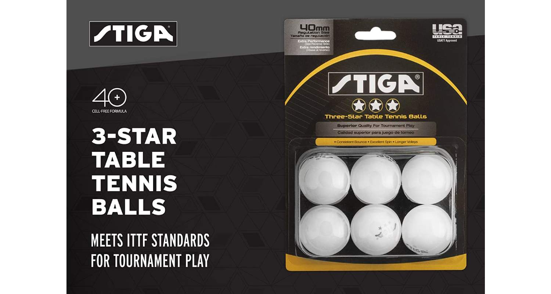 STIGA 3-Star Superior Table Tennis Balls Review - Box