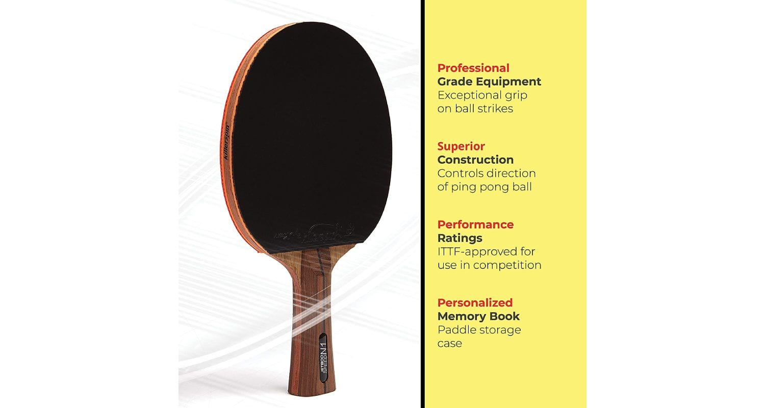 Killerspin JET 800 Ping Pong Paddle Review - Black Rubber