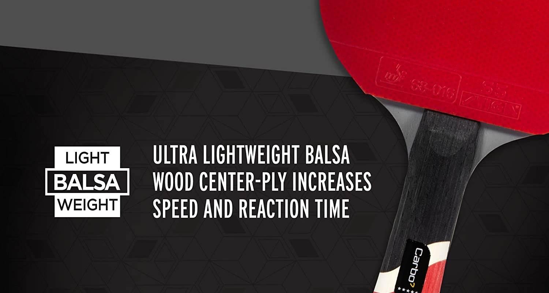 STIGA Pro Carbon Ping Pong Paddle Review - Wood