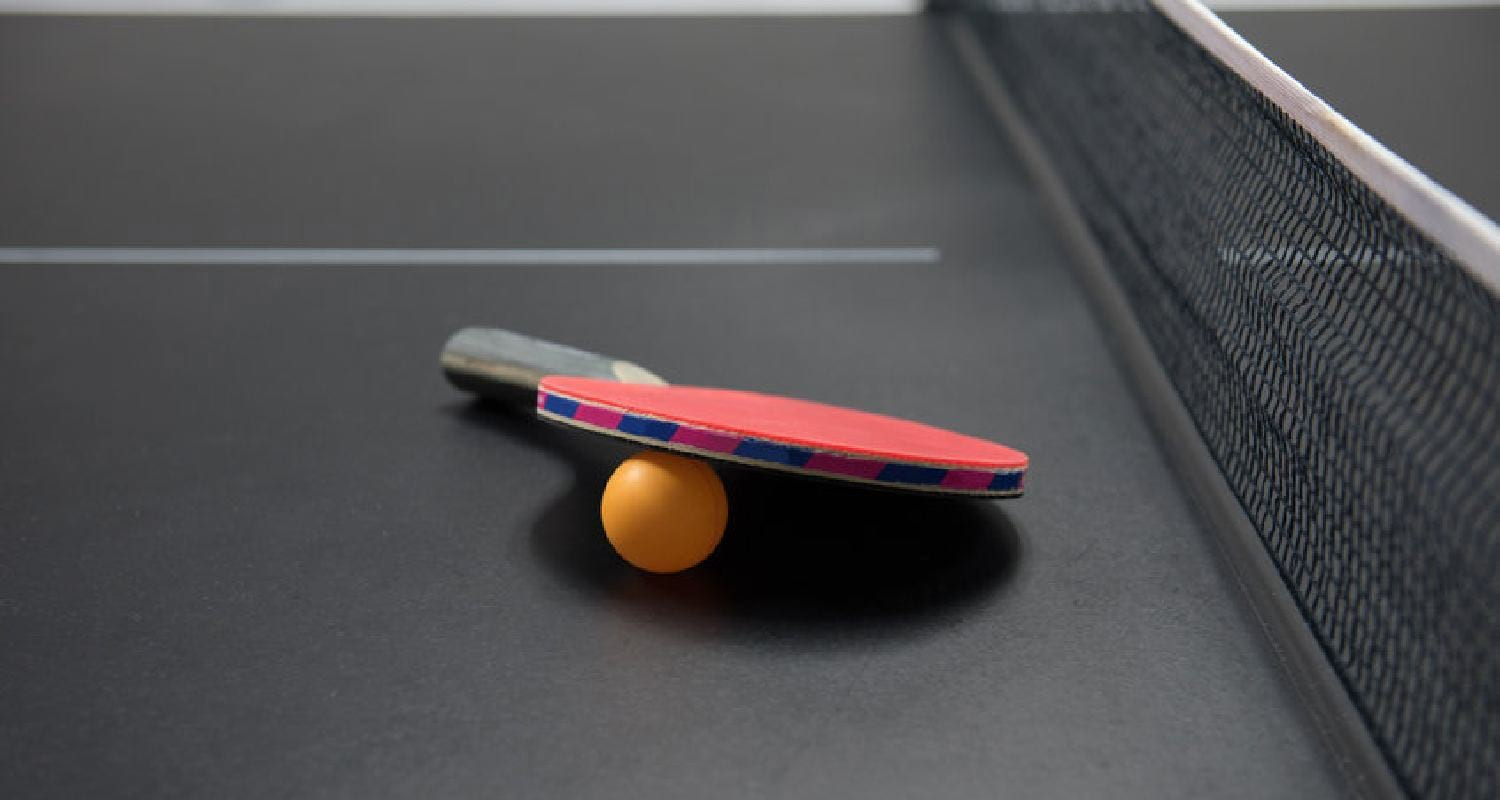 Rubber for ping pong paddle